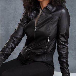 Danier leather jacket - remvable shearling collar